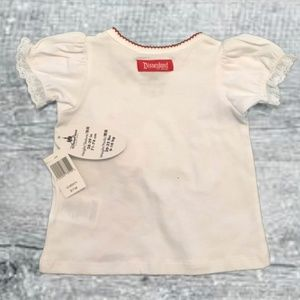 Disney Shirts & Tops - 🎄NWT Disney Minnie Mouse Infant White T-Shirt 12M